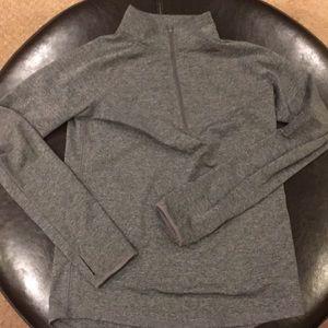 Grey athletic top